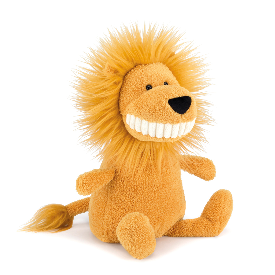 Jellycat Toothy Lion in yellow