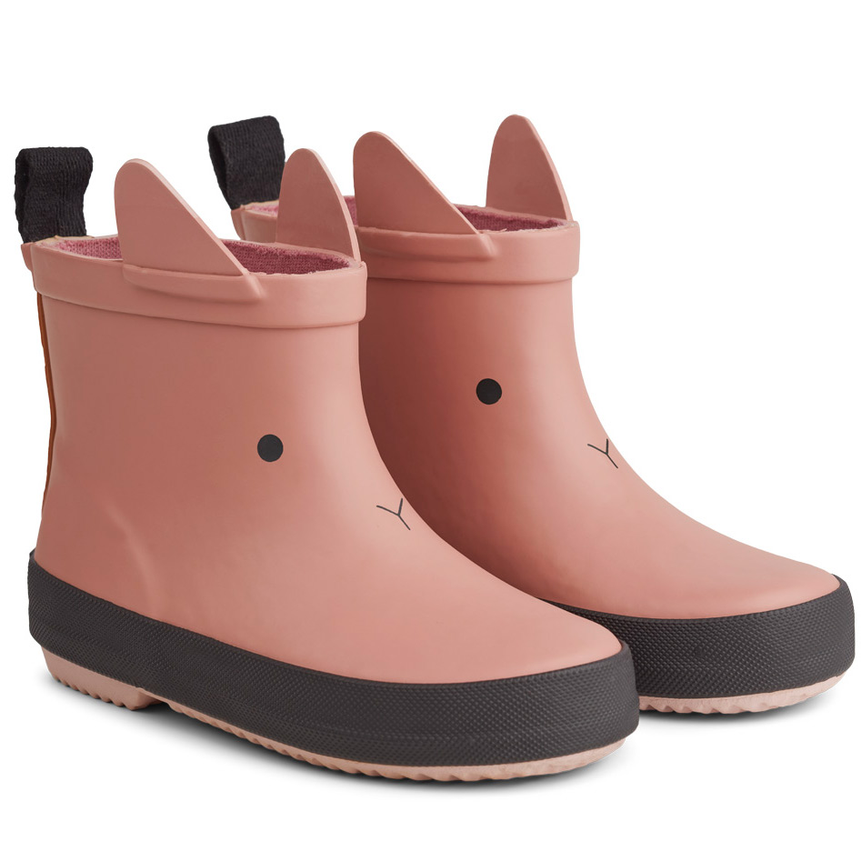 Liewood rain boots Tobi made of natural rubber - Cat rose