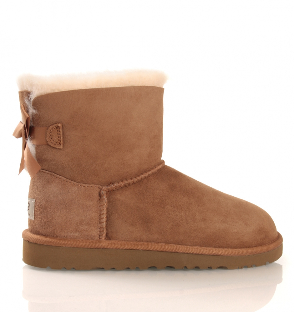 UGG Mini Bailey Bow in chestnut