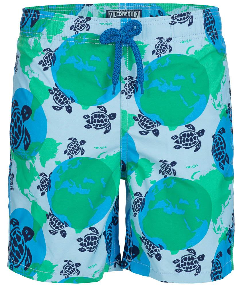 Vilebrequin Jim/Jam Badeshort mit Schildkröten in blau