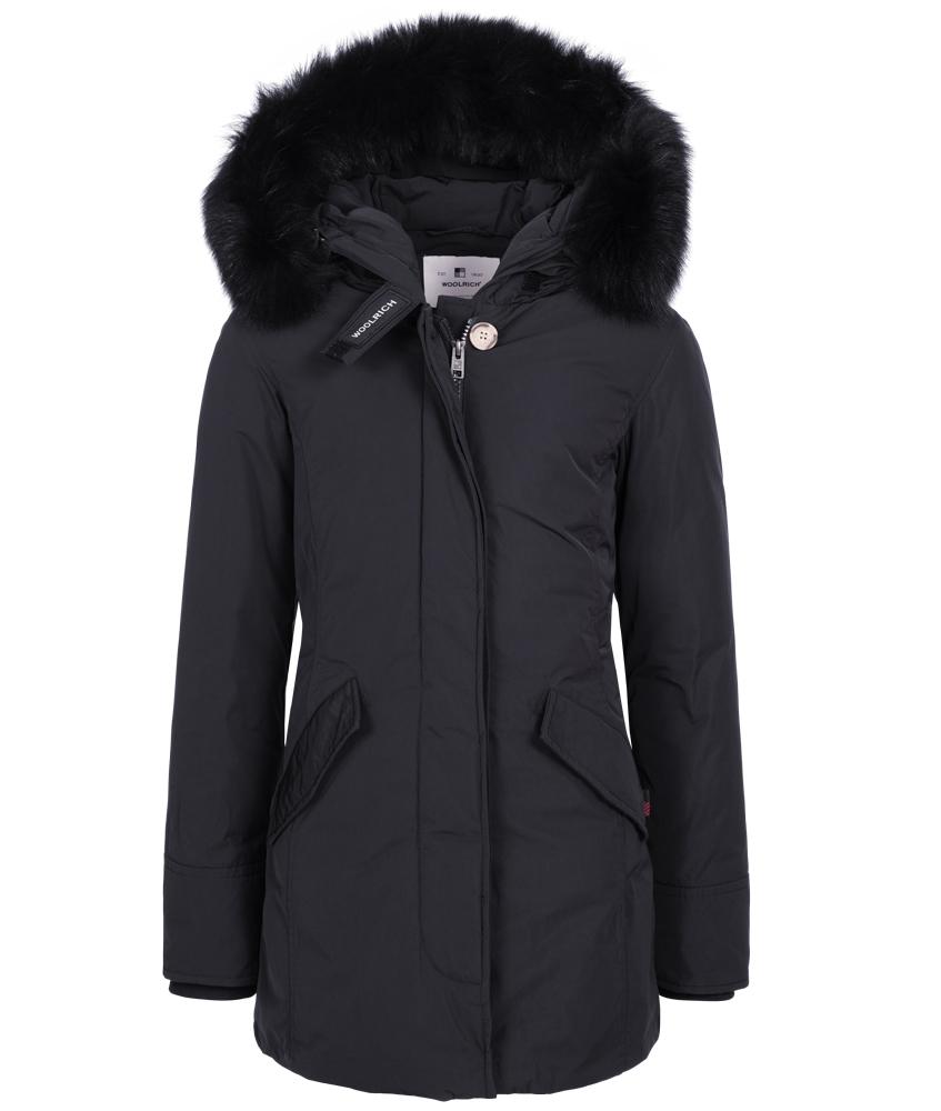 Woolrich Luxury Arctic Parka Fox mit Echtfell - navy
