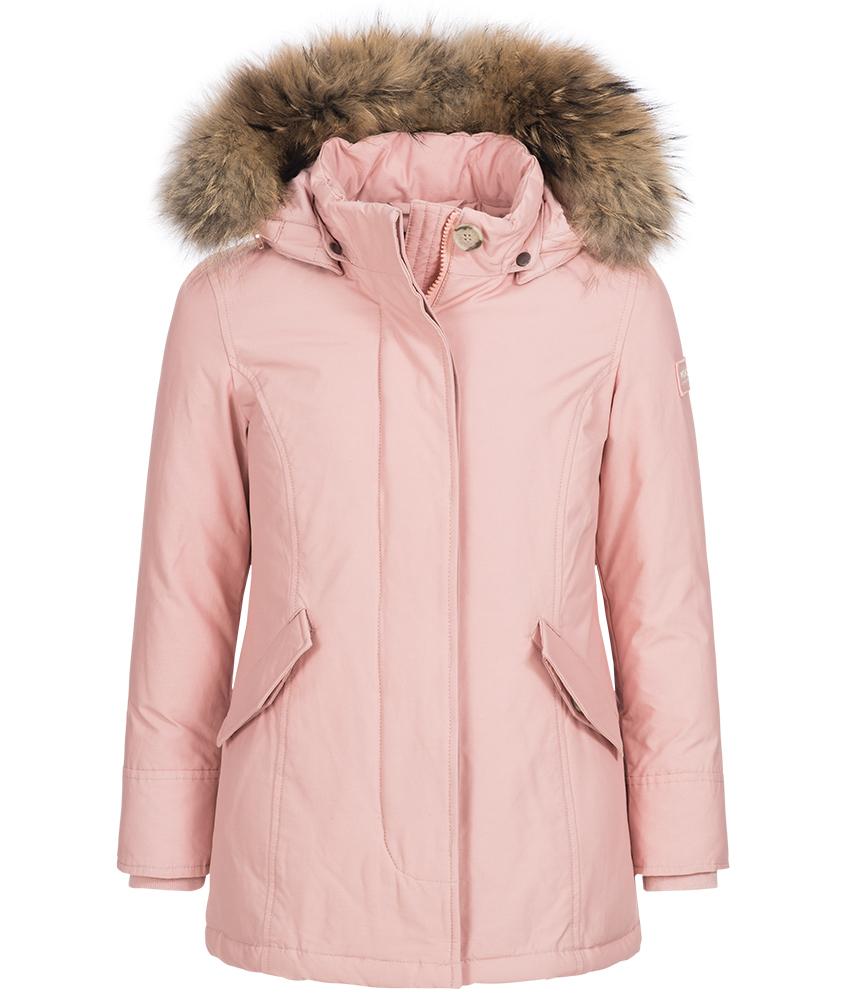 Woolrich Arctic Parka Girl mit Echtfell in hellrosa