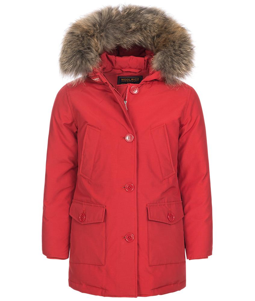 Woolrich Arctic Parka Slim DF mit Echtfell in rot