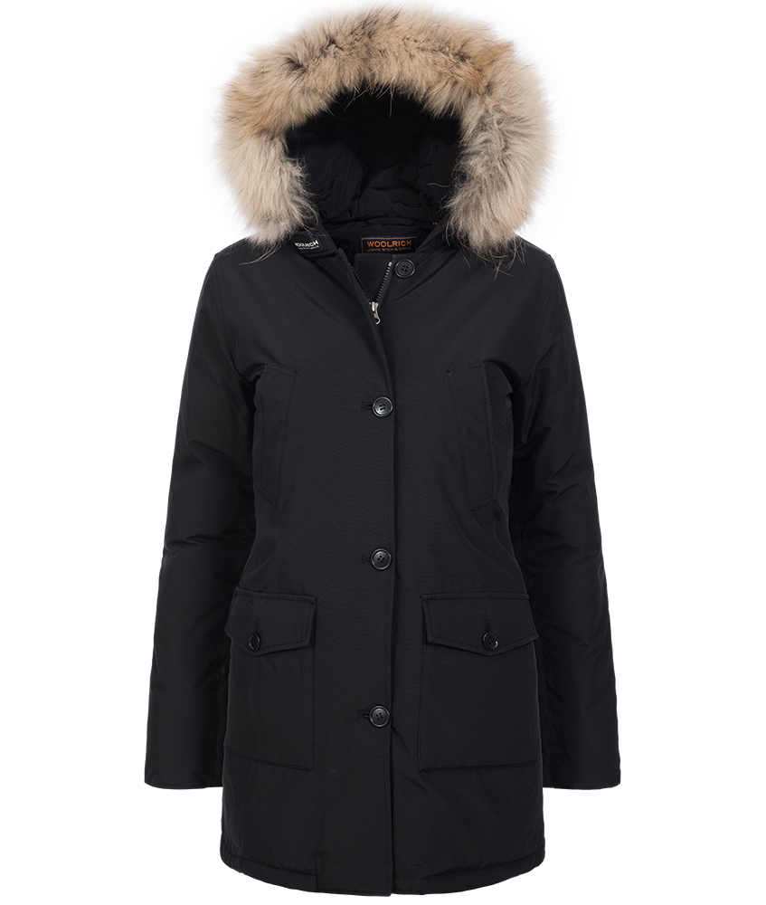 Woolrich Arctic Parka Slim DF mit Echtfell in schwarz