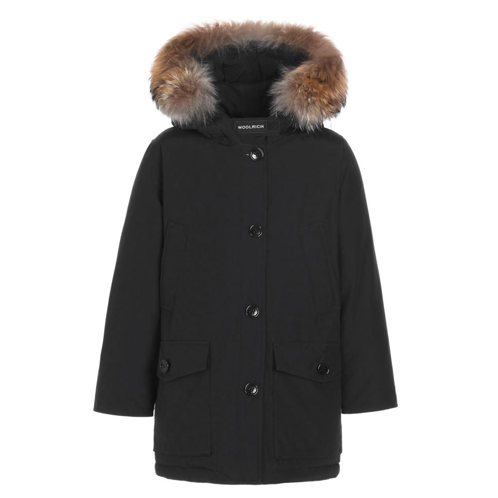 Woolrich Arctic Parka DF Girl mit Echtfell - schwarz