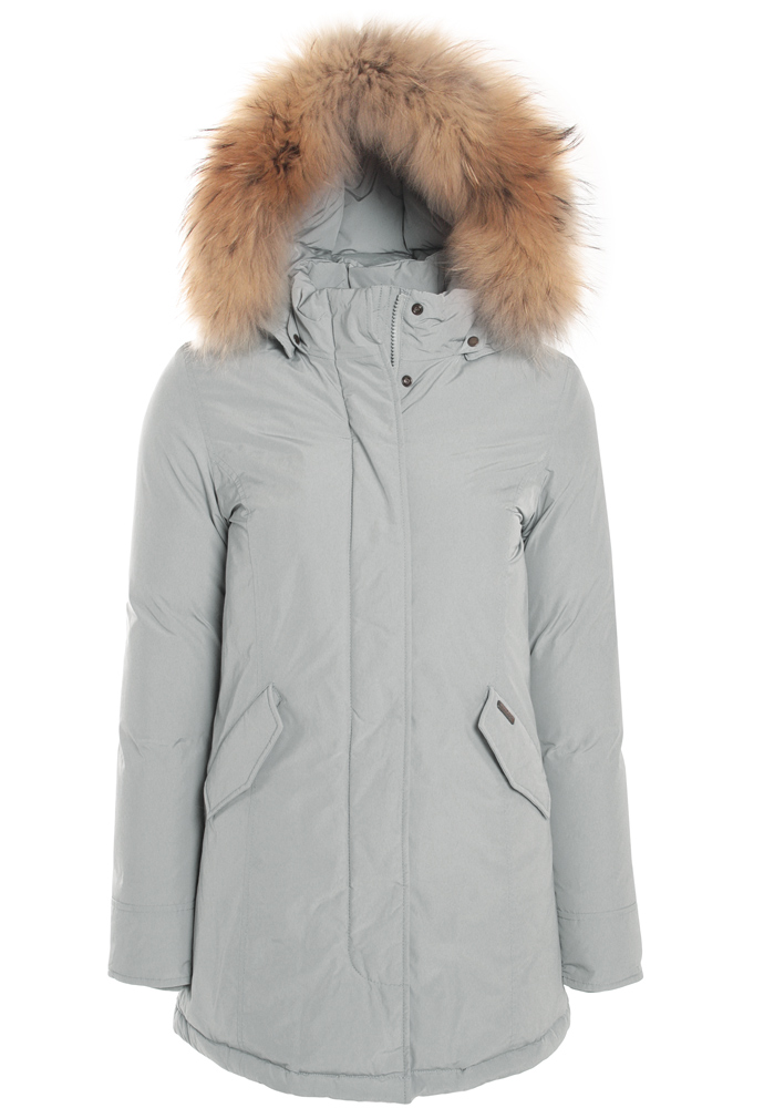 kids style lounge woolrich luxury arctic parka girl with real fur in drifter grey high. Black Bedroom Furniture Sets. Home Design Ideas