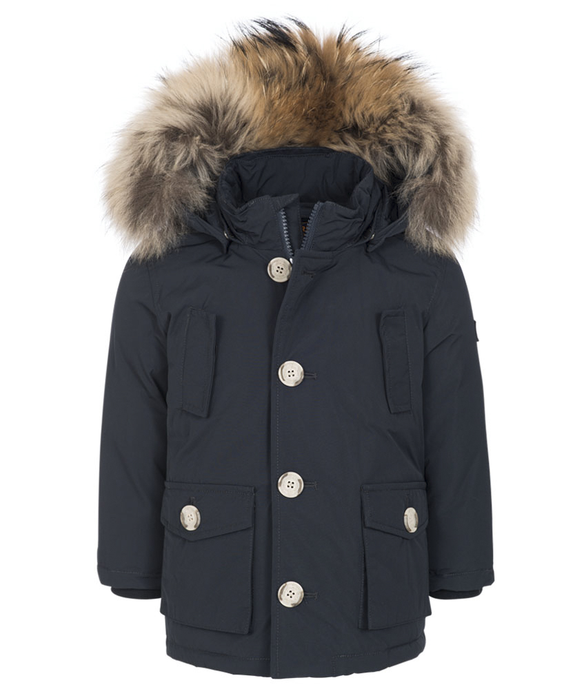 Woolrich Baby Luxury Arctic Parka with real fur - navy