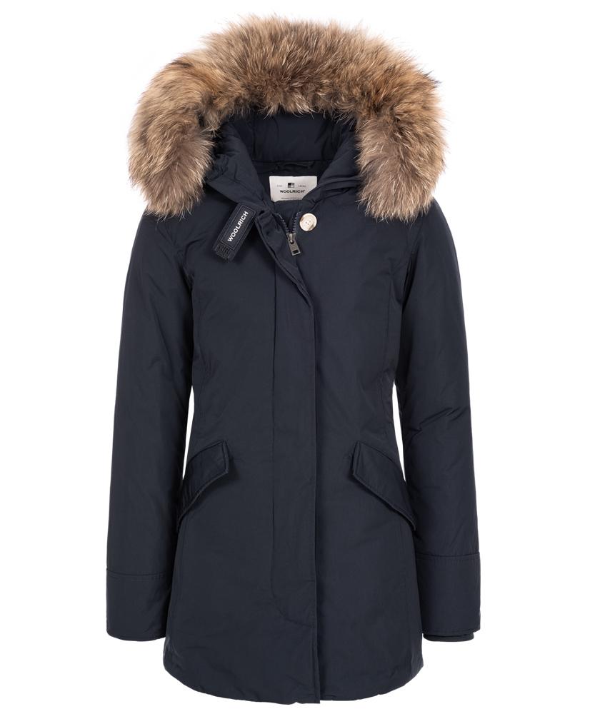 Woolrich Luxury Arctic Parka Girl mit Echtfell - navy