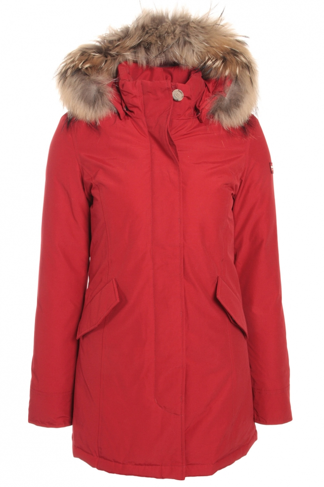 Woolrich Arctic Parka Girl mit Echtfell in French Kiss Red