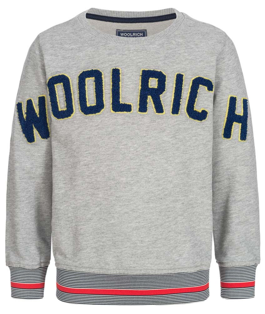 Woolrich Logo Sweatshirt - grau