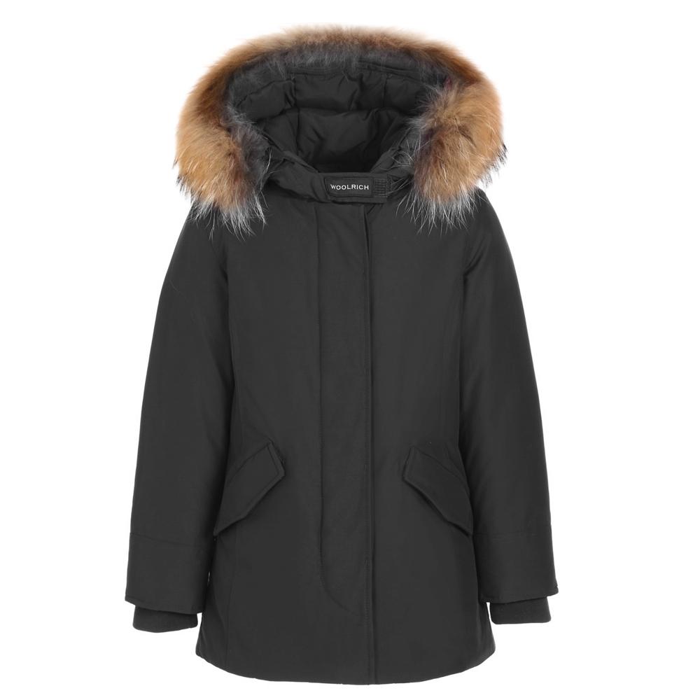 Woolrich Arctic Parka FR Girl mit Echtfell - schwarz