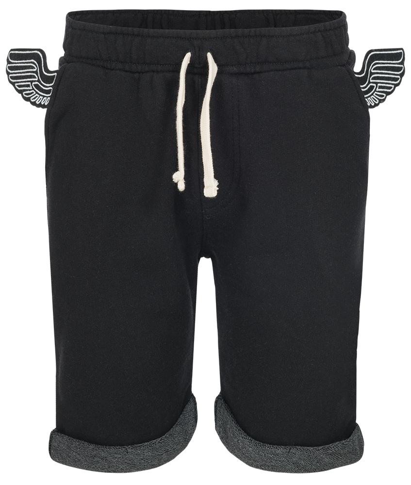Yporqué Jogg-Shorts mit Flügel in schwarz