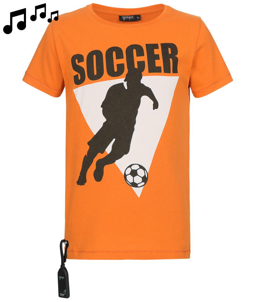 Yporqué Sound- Shirt mit Soccer-Print in orange