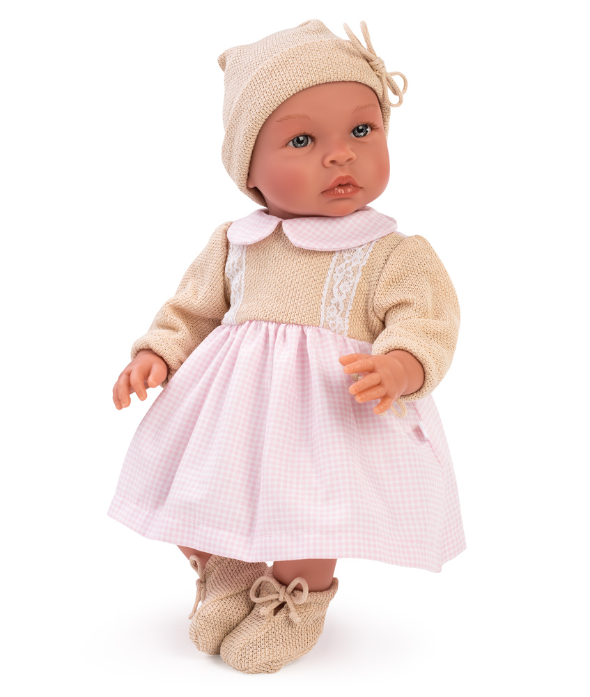 Asi Dolls Puppe Leo Girl, 46 cm - rosa/beige