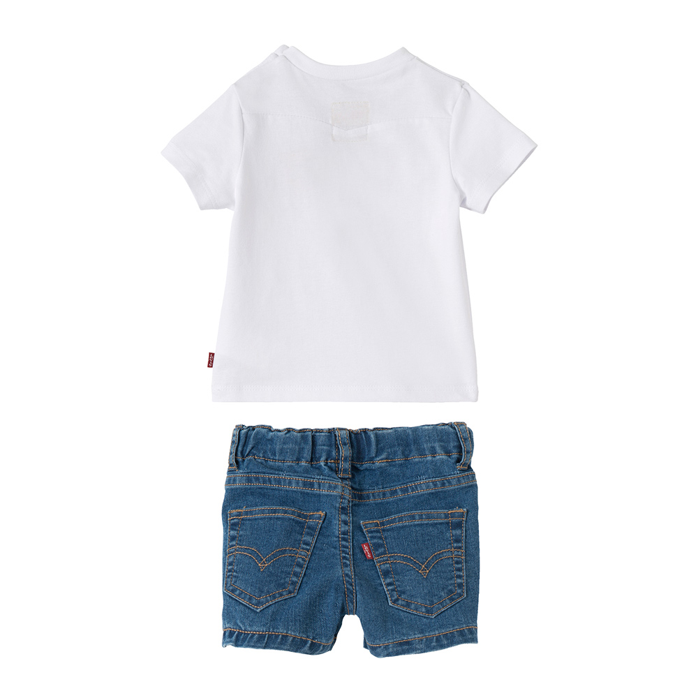kids style lounge levis baby set denim shorts logo. Black Bedroom Furniture Sets. Home Design Ideas