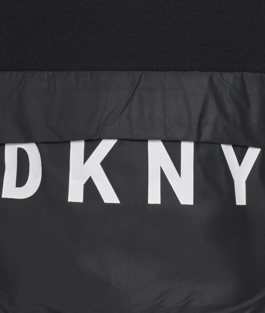 kids style lounge dkny sweatshirt mit tasche in schwarz. Black Bedroom Furniture Sets. Home Design Ideas