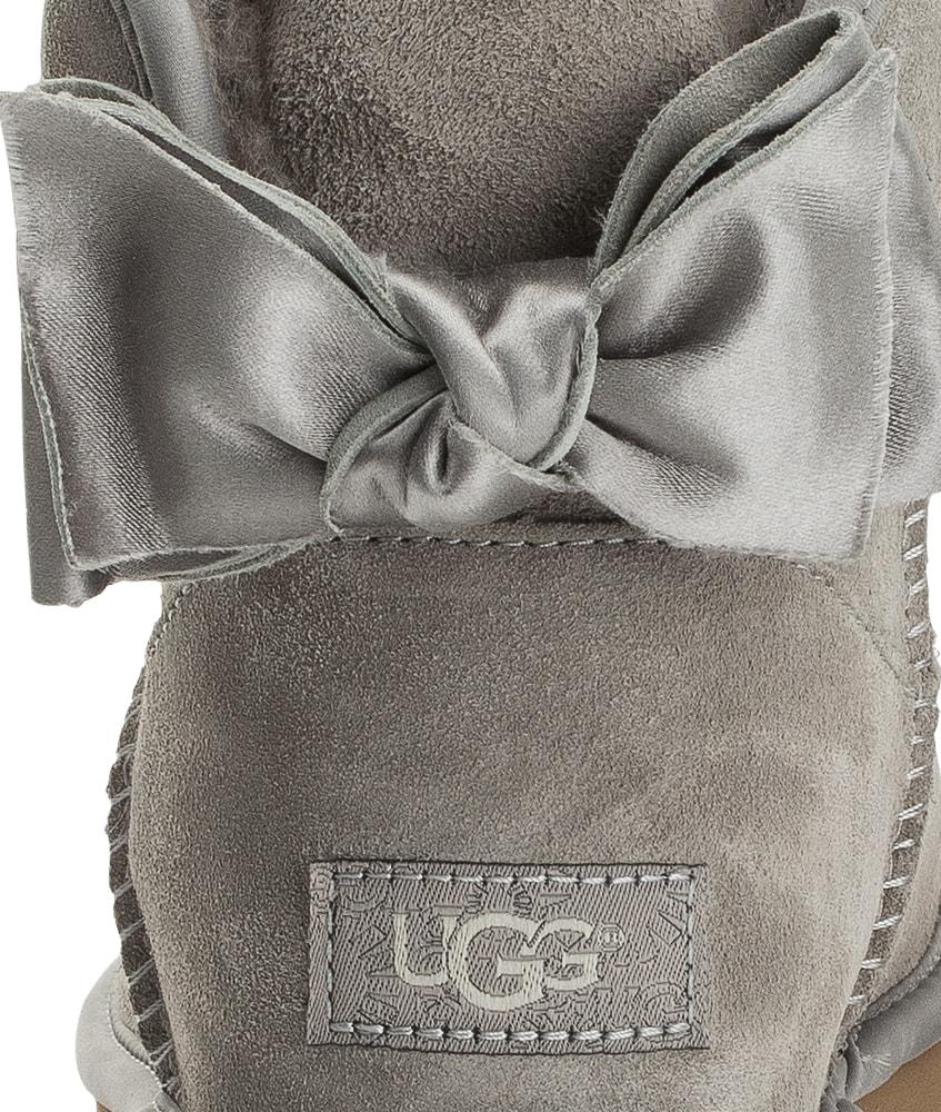 Kids Style Lounge | UGG Mini Satin Bow in hellgrau