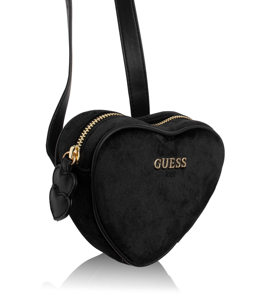 Kids Style Lounge | Guess bum bag made of velvet in black